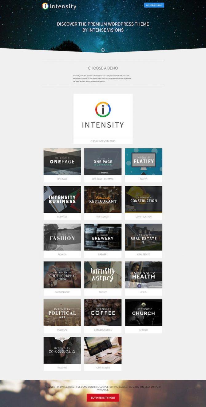 Intensity WordPress Theme